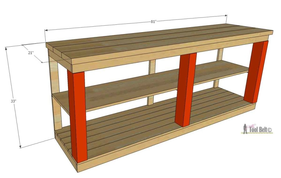 Console Table Overall Dimensions