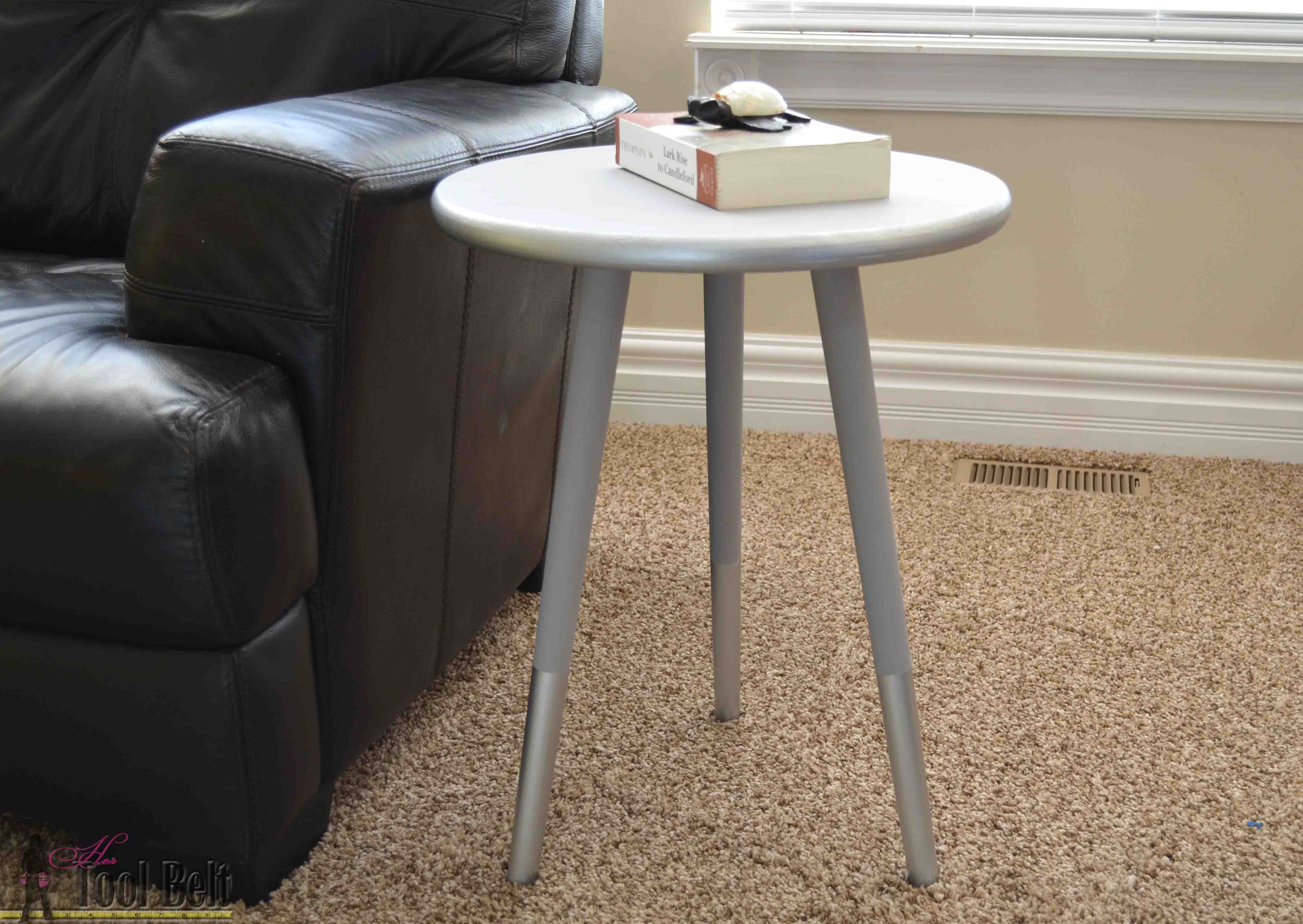 Easy MidCentury Modern Side Table Her Tool Belt - How to build a side table