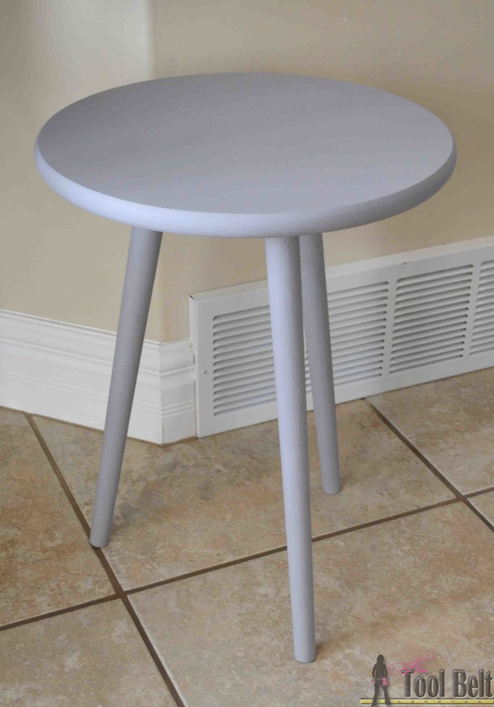 This project is so easy, 15 minutes and you have a mid-century modern side table.