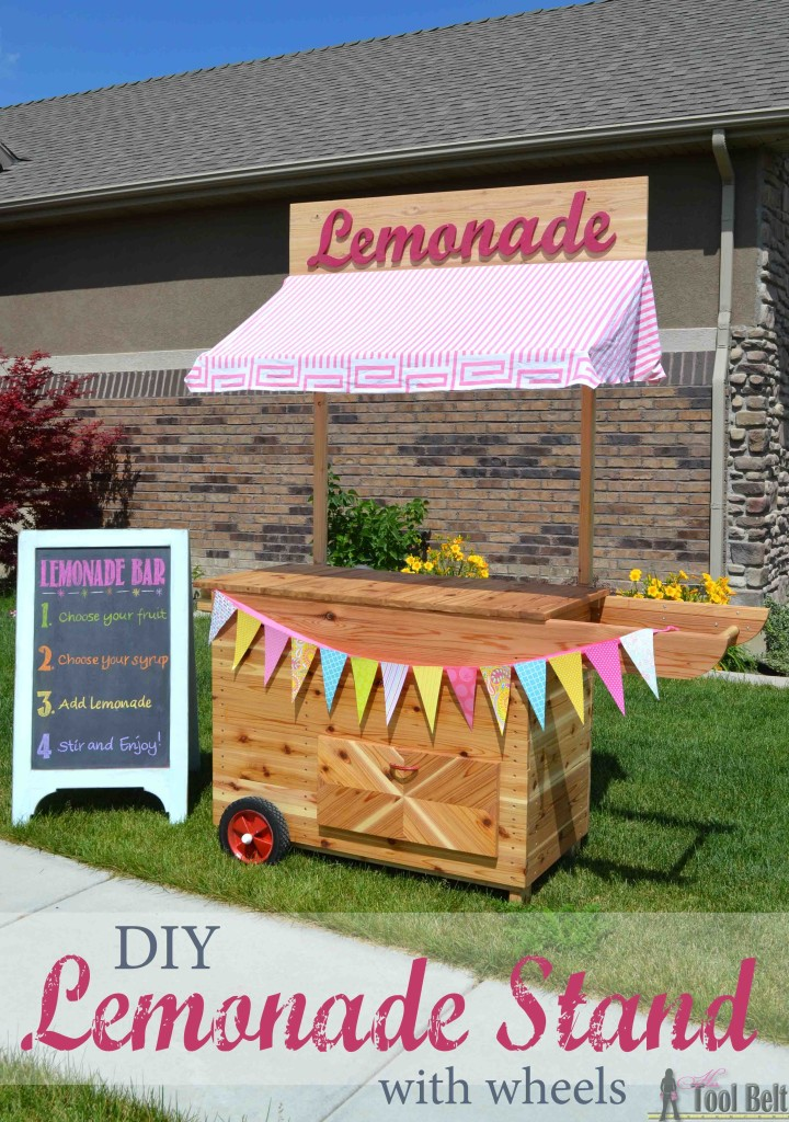diy lemonade stand with wheels her tool belt