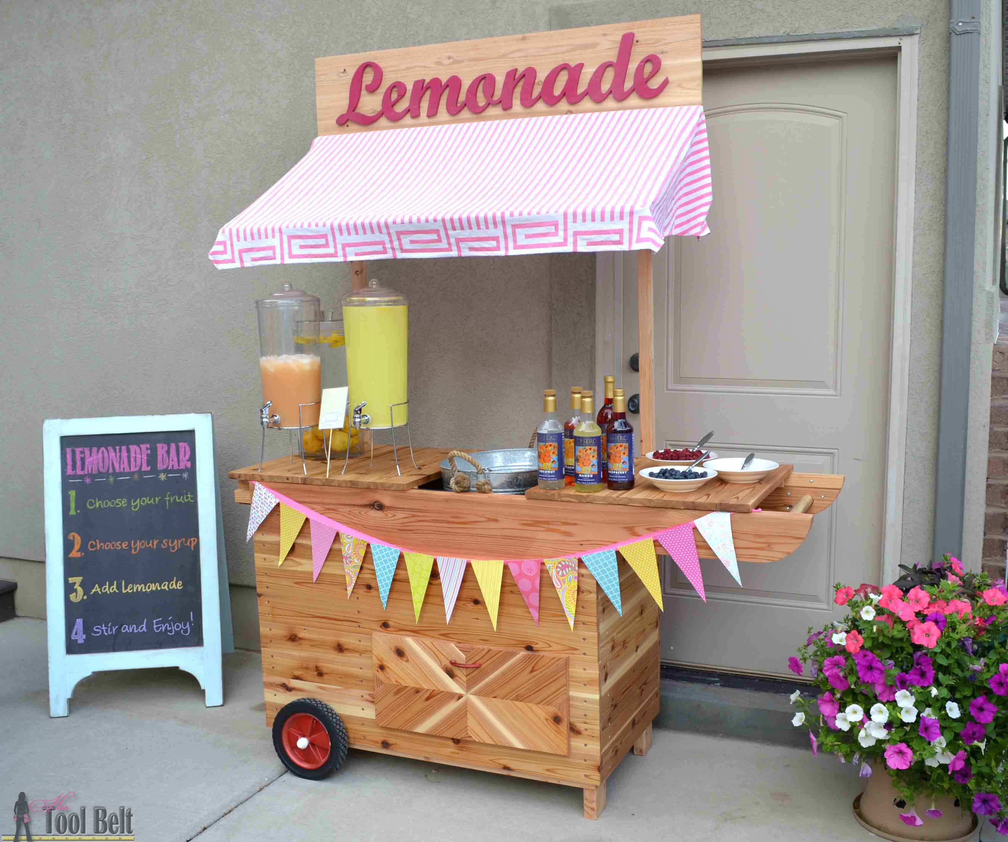 Diy lemonade stand with wheels her tool belt for Diy building ideas