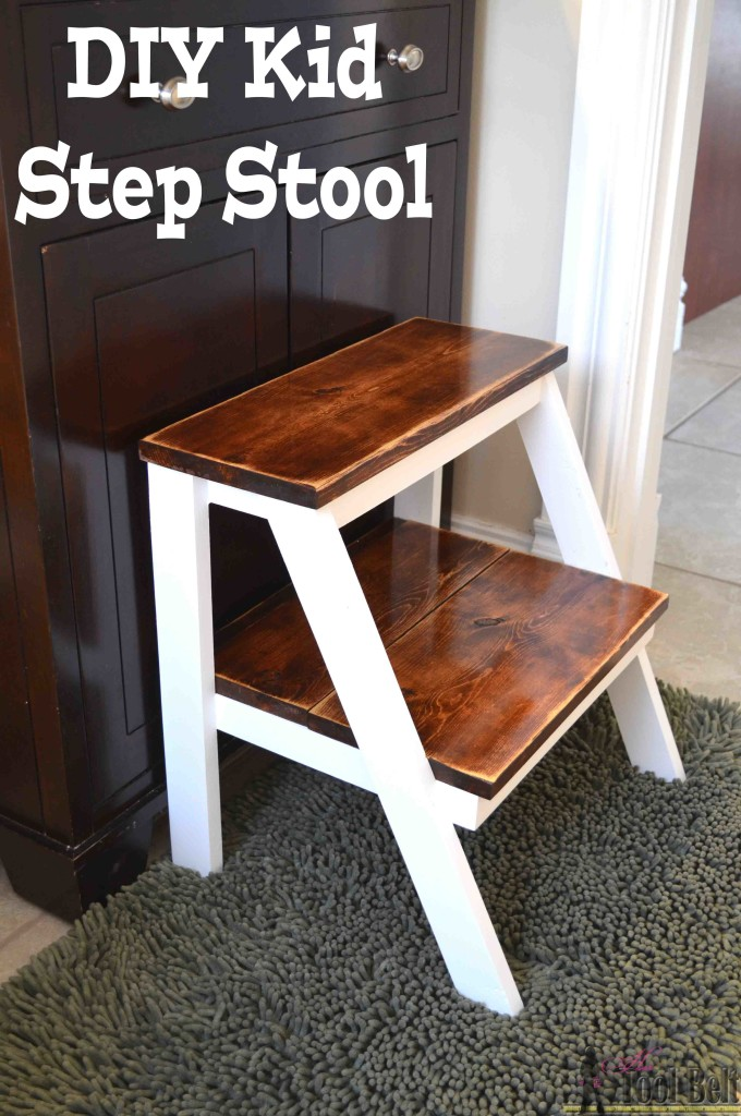 DIY kid step stool for bathroom