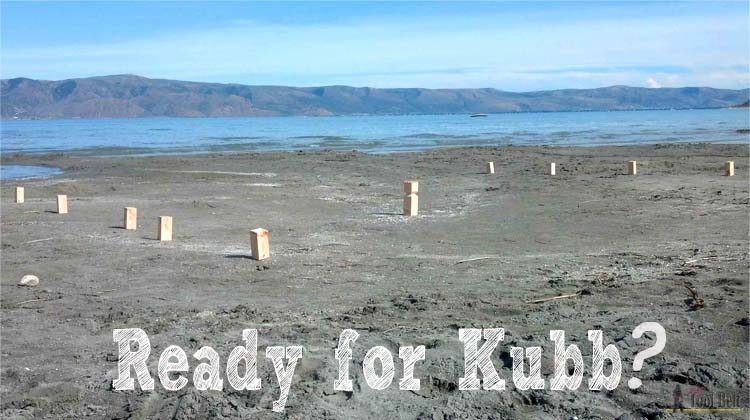 photo regarding Kubb Rules Printable titled Do it yourself Kubb Mounted - Her Software Belt