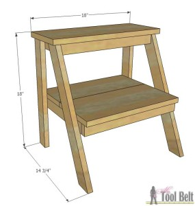 Kid Step Stool Overall Dimensions Her Tool Belt