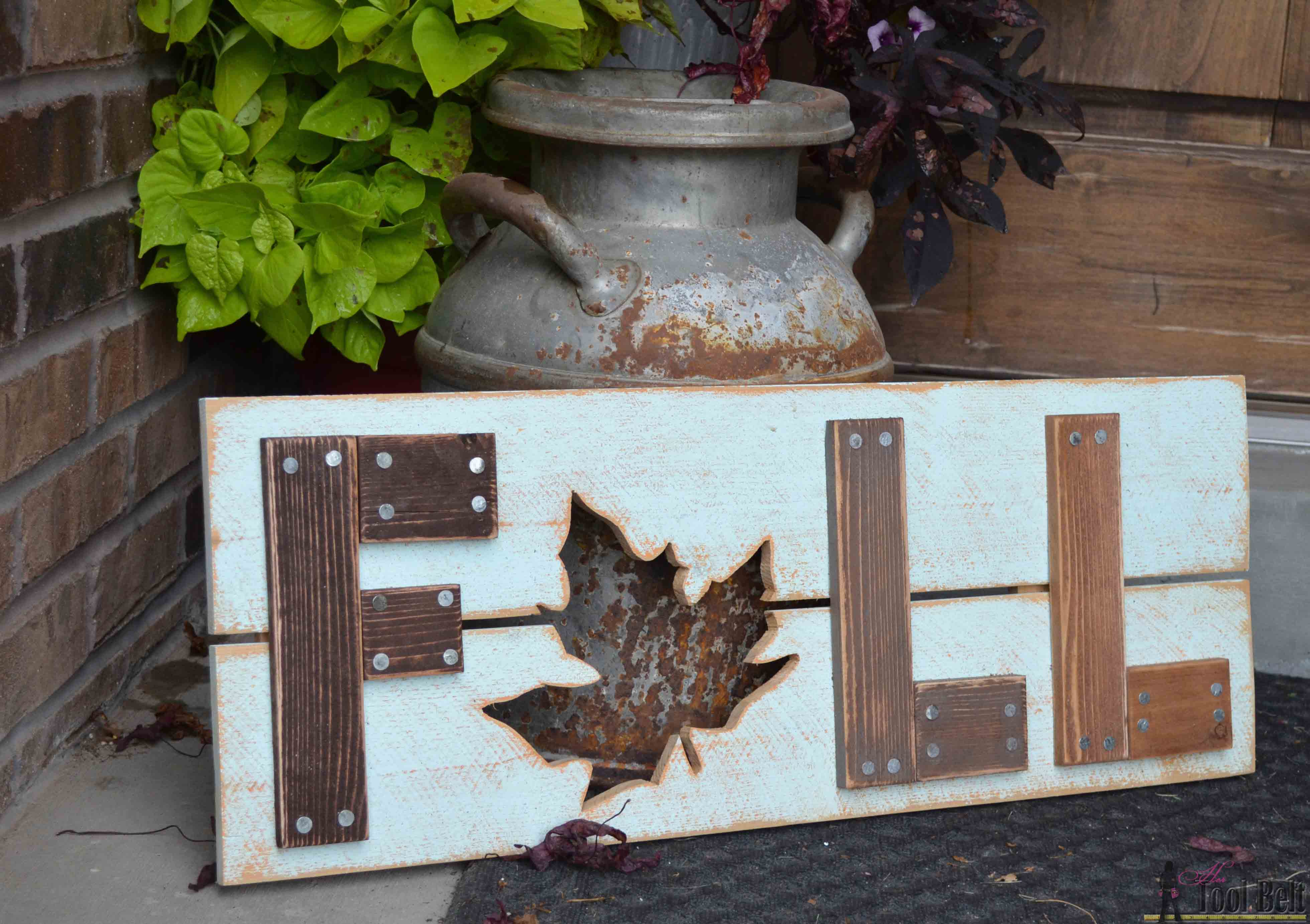 Diy Wood Projects Wooden Fall Sign Her Tool Belt
