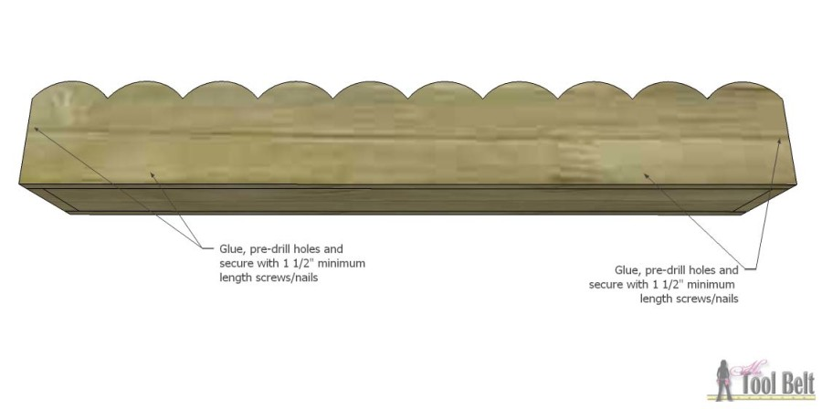 DIY scalloped planter box centerpiece - free plans Hertoolbelt