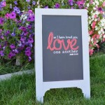 A-frame Chalkboard Easel – small