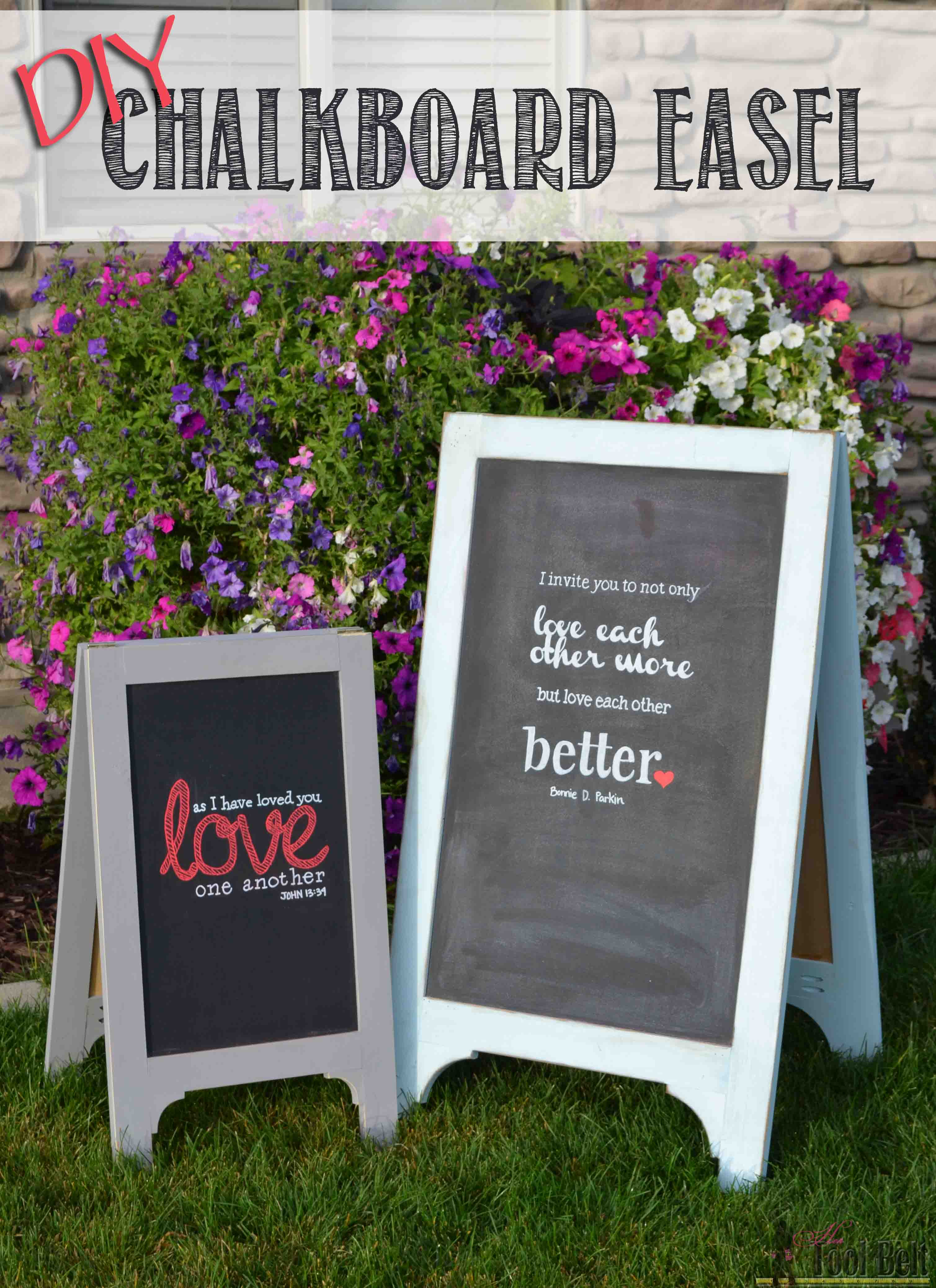 Do It Yourself Home Design: A-frame Chalkboard Easel