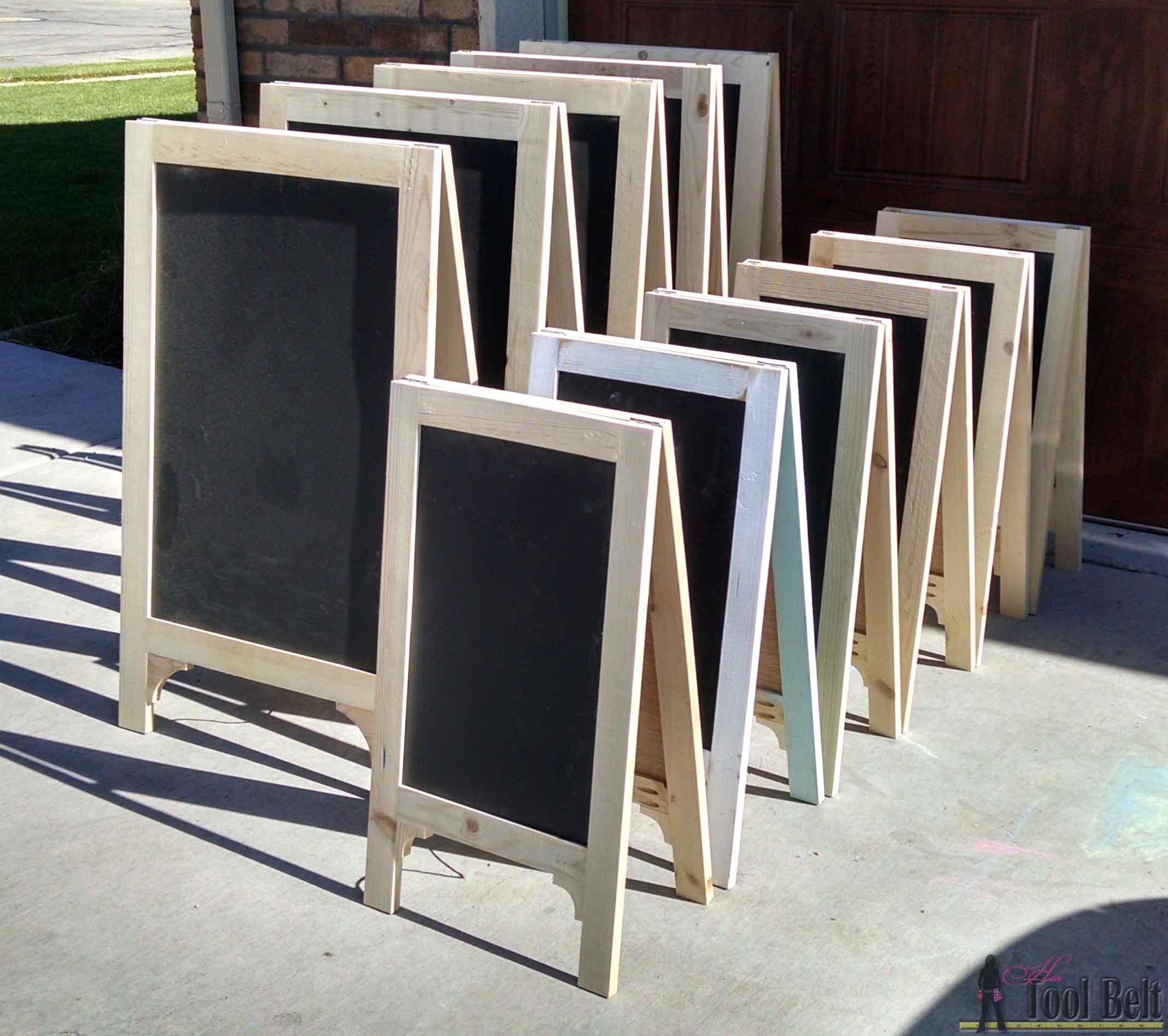 A Frame Chalkboard Easel Small Her Tool Belt