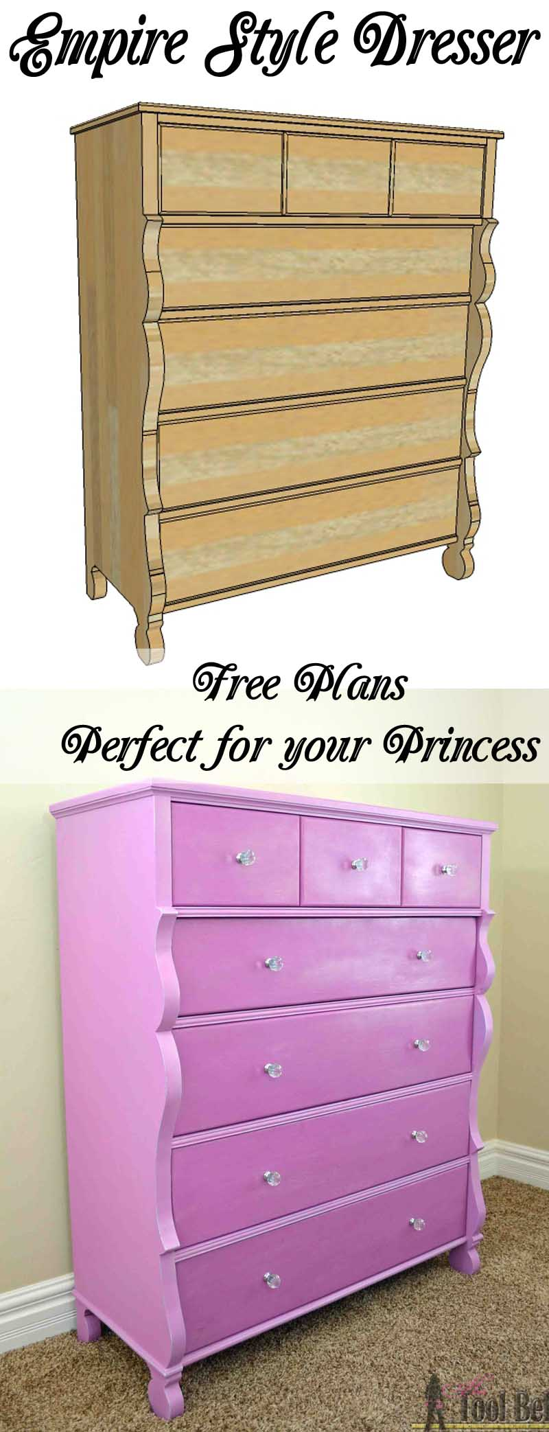 Empire Dresser In Princess Purple Her Tool Belt
