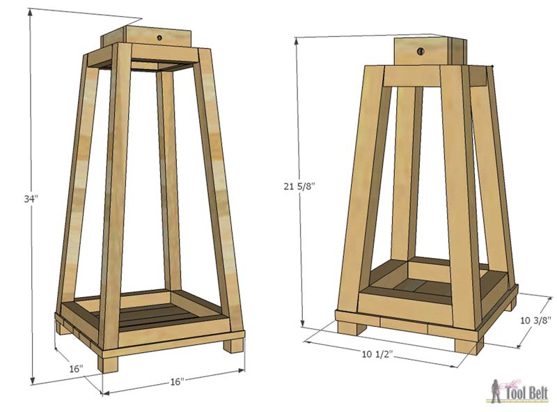 Add a little rustic charm to your front porch or home decor with these easy rustic wood lanterns. Free plans on #ryobination