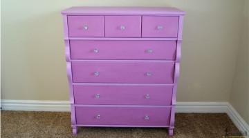 Empire Dresser in Princess Purple