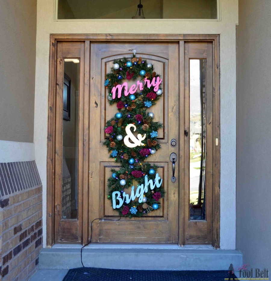 Create a very Merry and Bright Christmas Wreath Trio for your front door this holiday season.