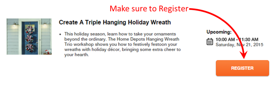 DIY Workshop register