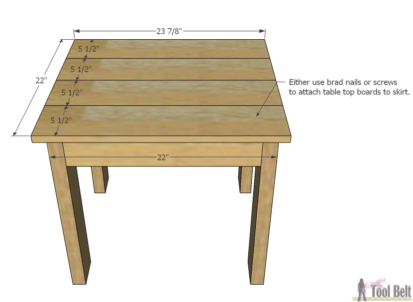 Simple Kid S Table And Chair Set Her Tool Belt