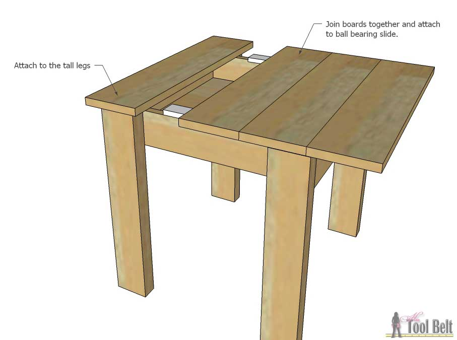 Build An Easy Kids Table And Chair Set With A Sliding Top To Store Legos.