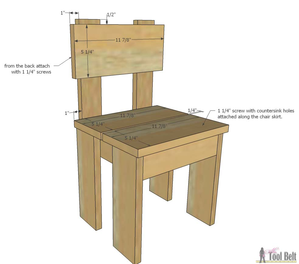 Easy Table Plans Simple Kids Table And Chair Set Her Tool Belt