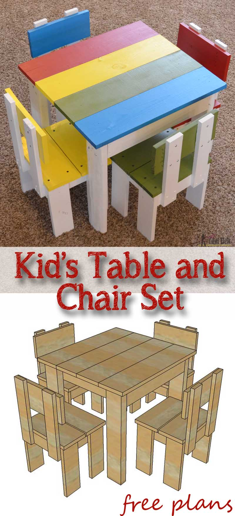 Sensational Simple Kids Table And Chair Set Her Tool Belt Caraccident5 Cool Chair Designs And Ideas Caraccident5Info