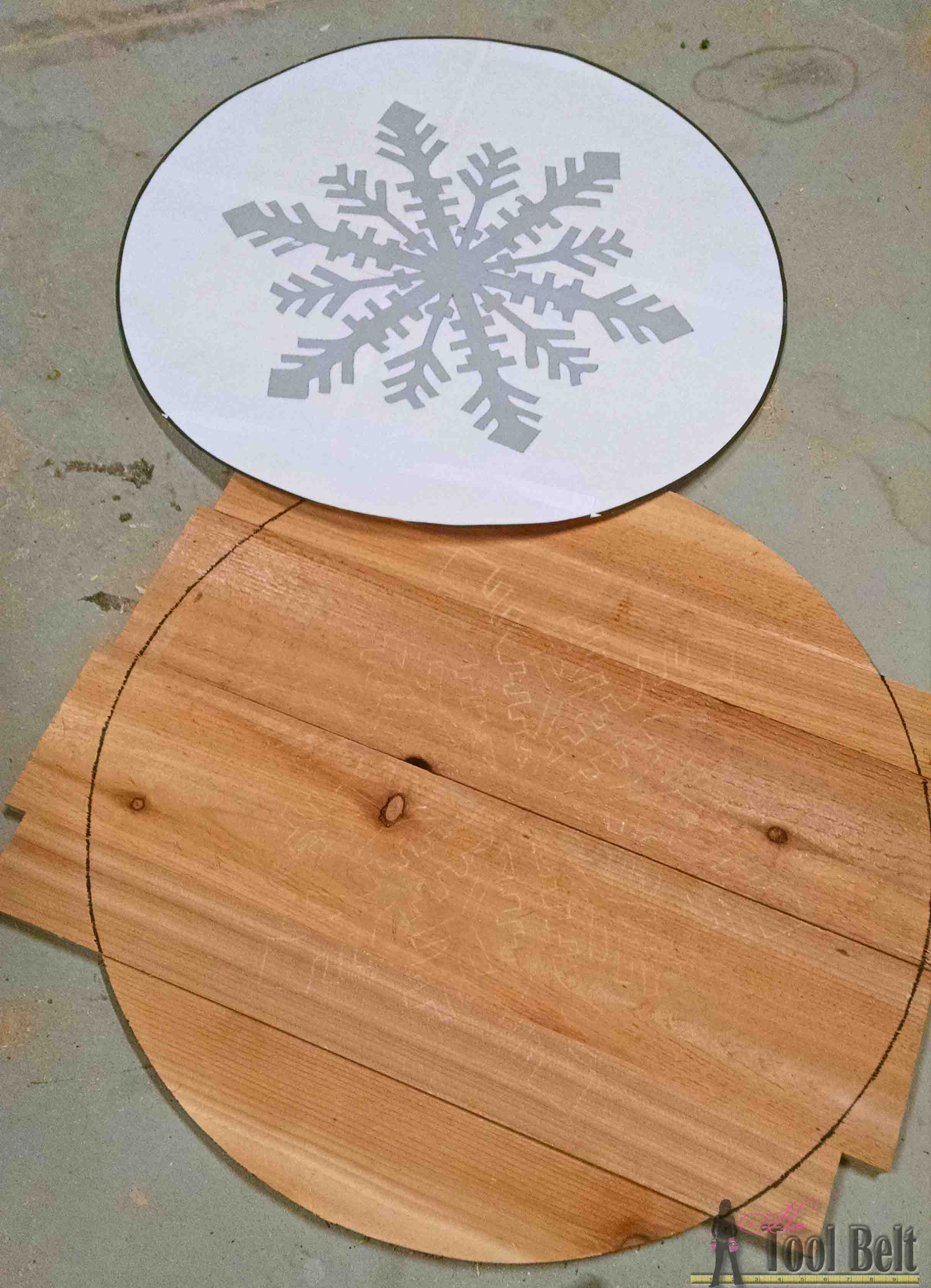 Let It Snow Wooden Snowflake Her Tool Belt