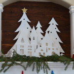 DIY Christmas Village Silhouette Mantel Decor
