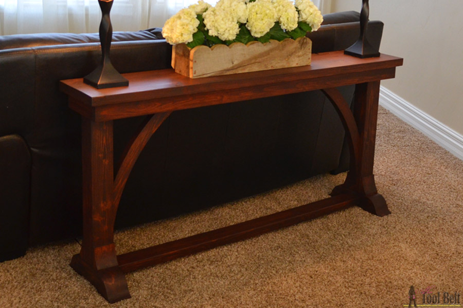 Narrow sofa table her tool belt for Sofa side table designs