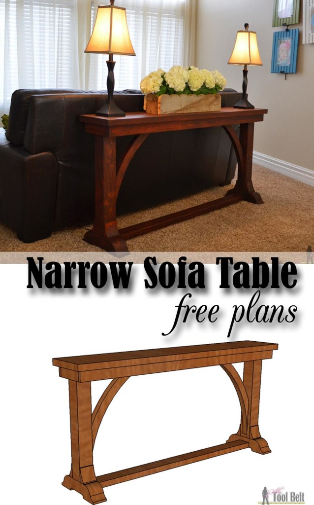 Narrow sofa table her tool belt Narrow farmhouse table plans