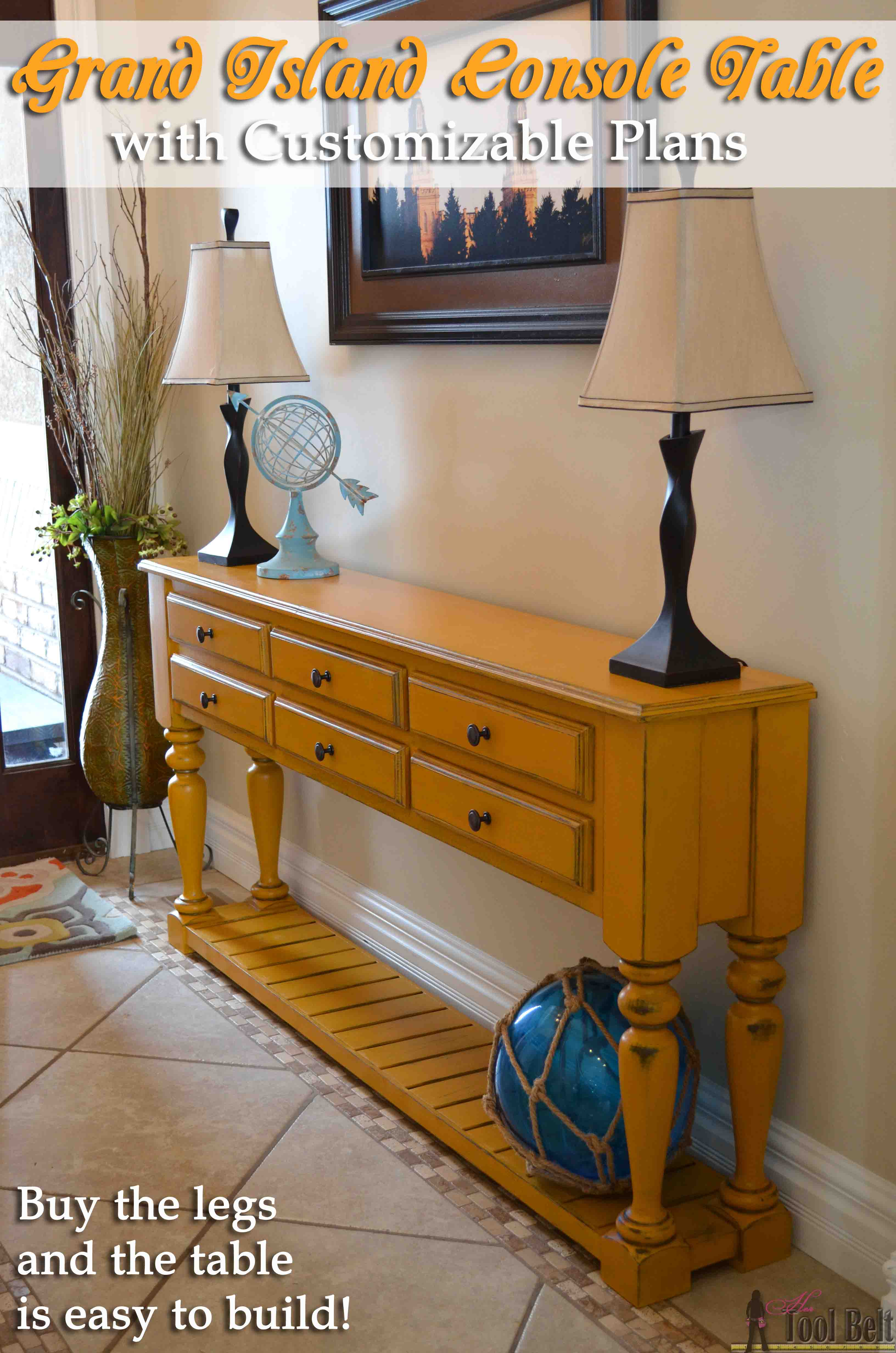 Need A Stylish Console Table, Perfect For Your Space? Free Plans That You  Can