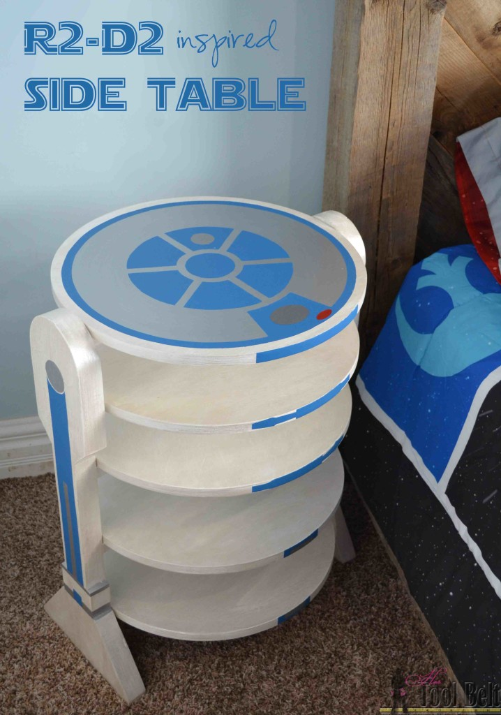 R2-D2 inspired side table-pin