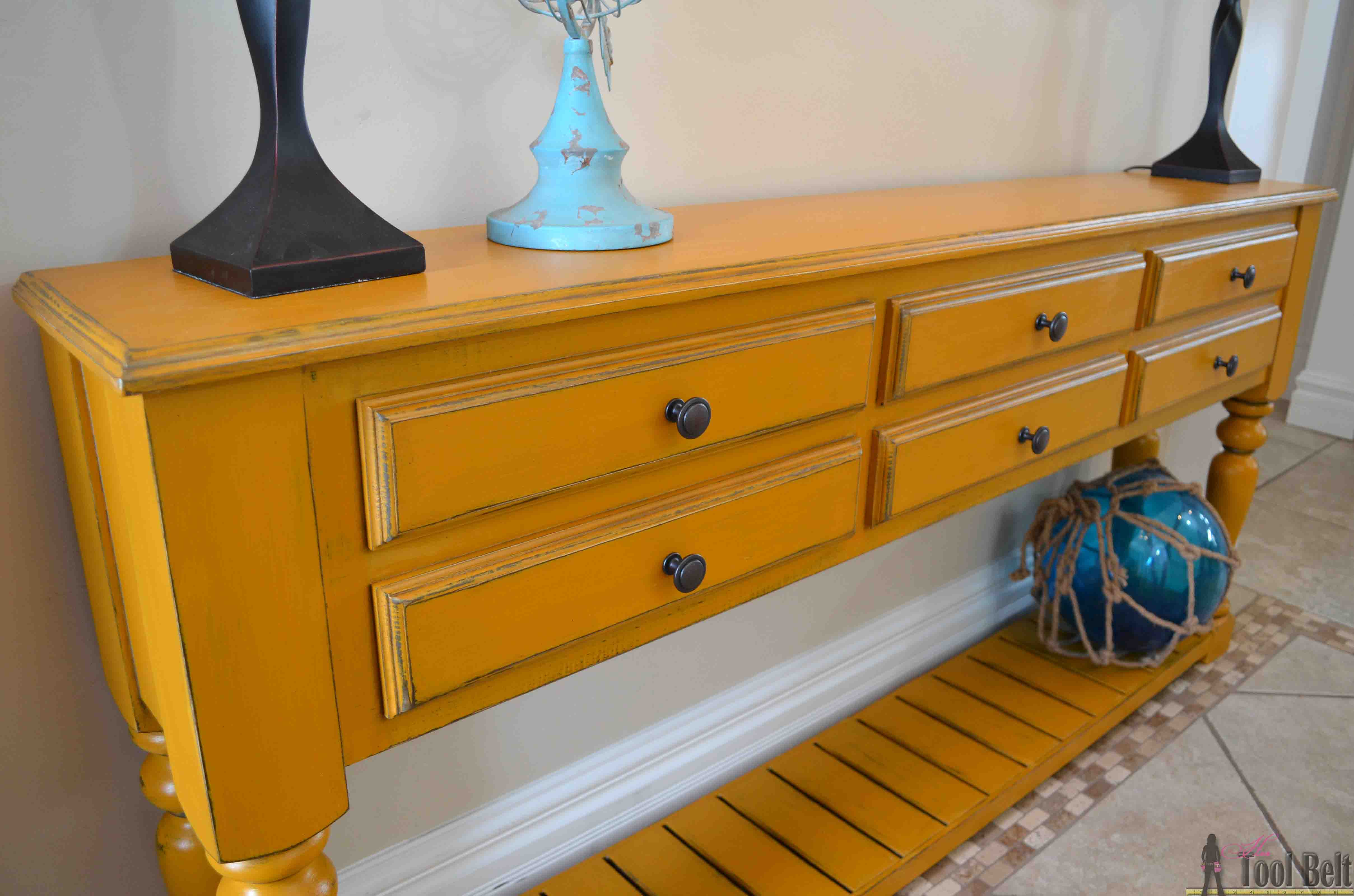 Grand island console table her tool belt need a stylish console table perfect for your space free plans that you can geotapseo Images