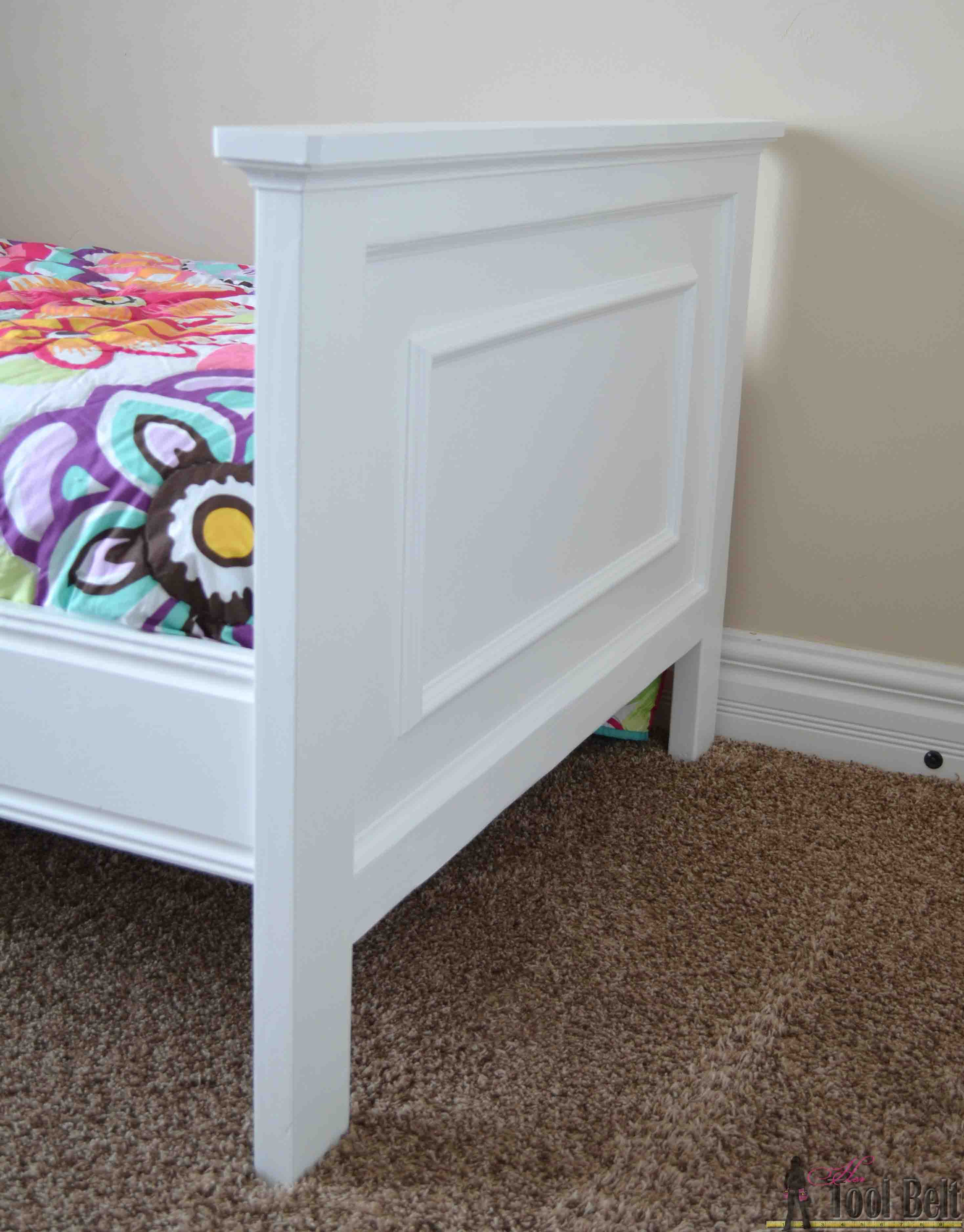 twin bed with faux raised panel - her tool belt