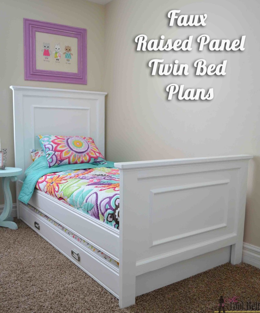 Twin Bed With Faux Raised Panel