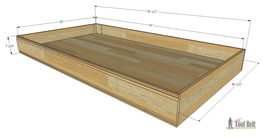 twin bed trundle overall dimensions