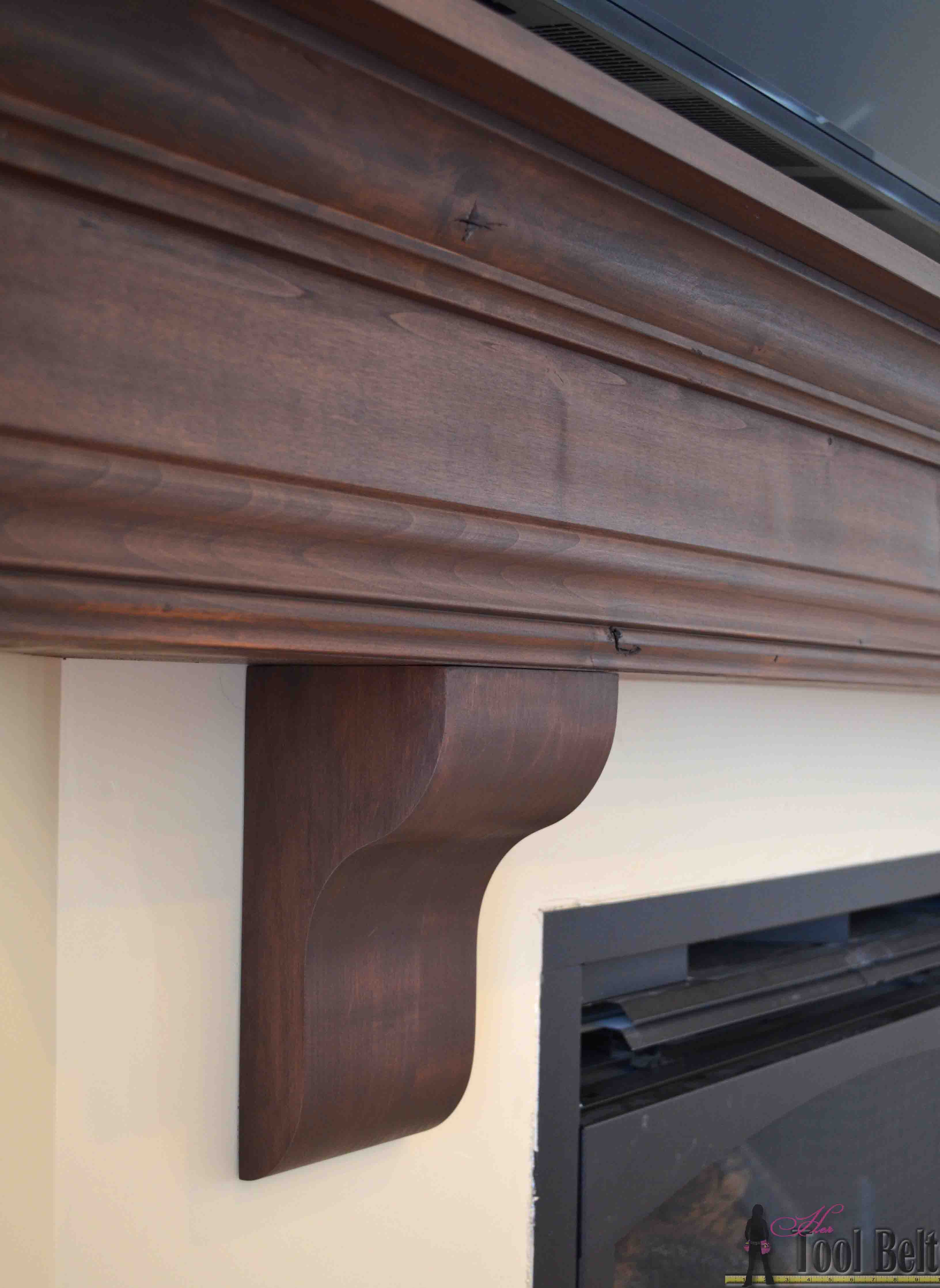 diy fireplace mantel shelf her tool belt