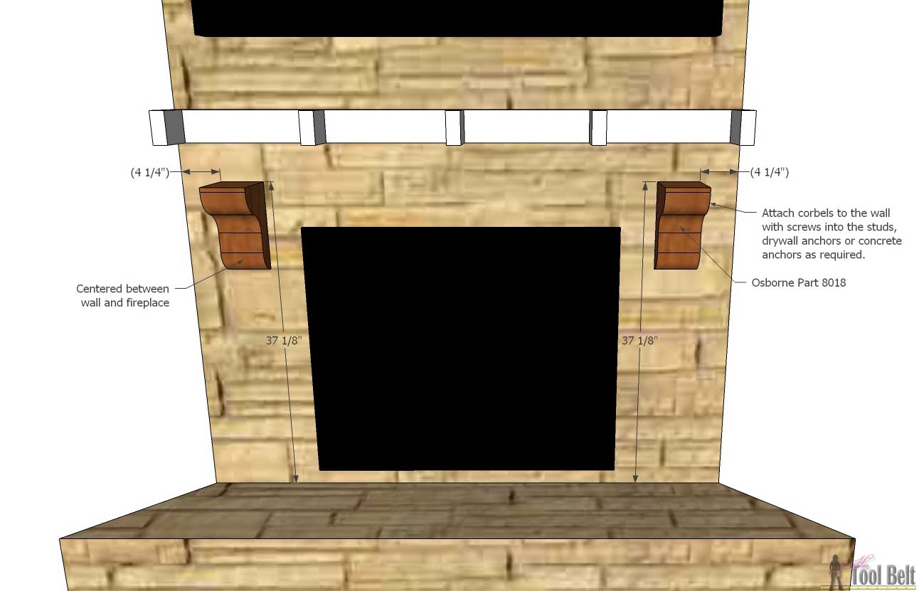 fireplace mantel corbels. Create that room focal point you ve been dreaming about  DIY fireplace mantel Fireplace Mantel Shelf Her Tool Belt