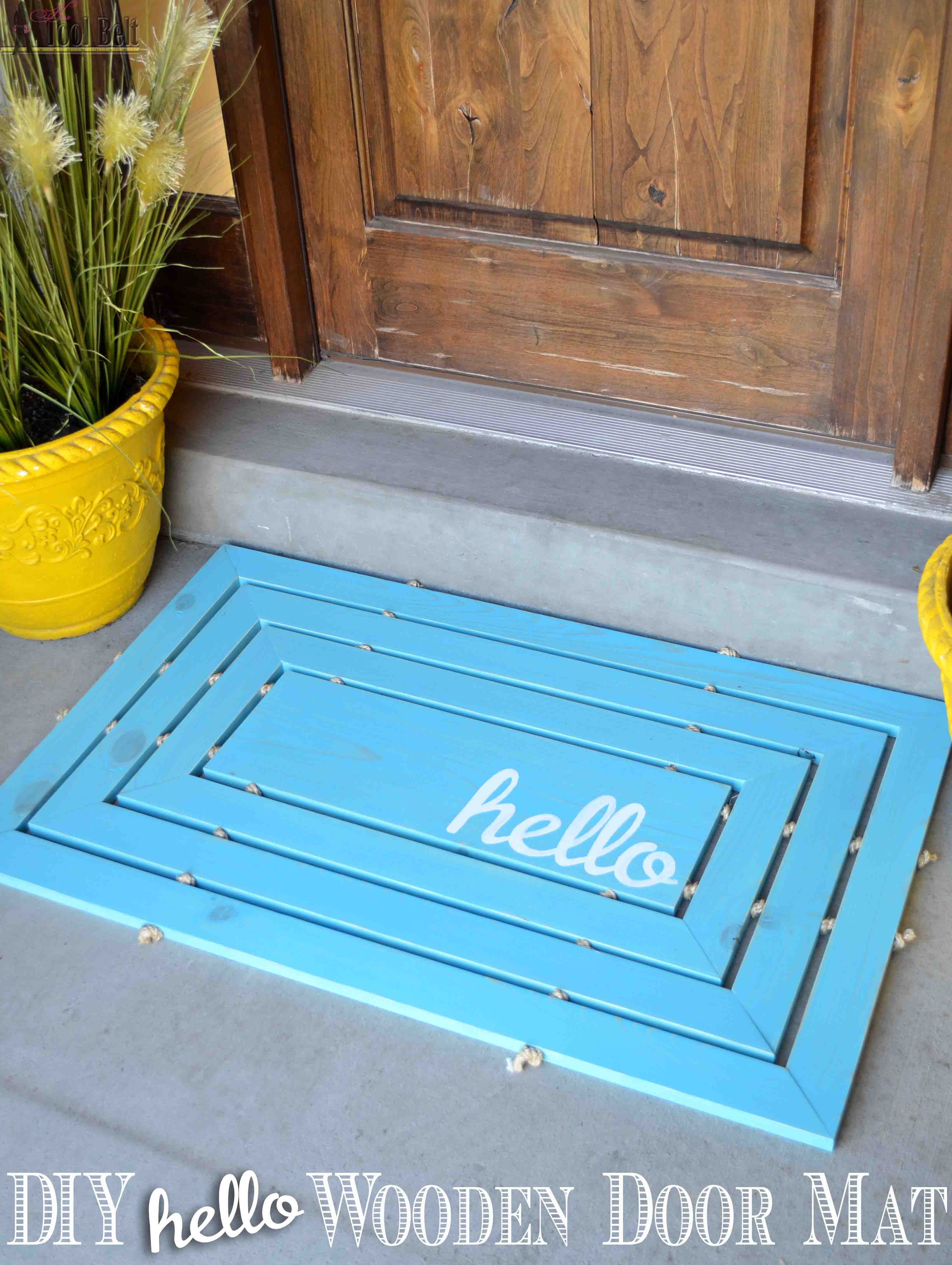 Wooden Door Mat - Her Tool Belt
