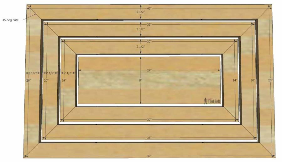 Hello Wooden Door Mat- cut dimensions