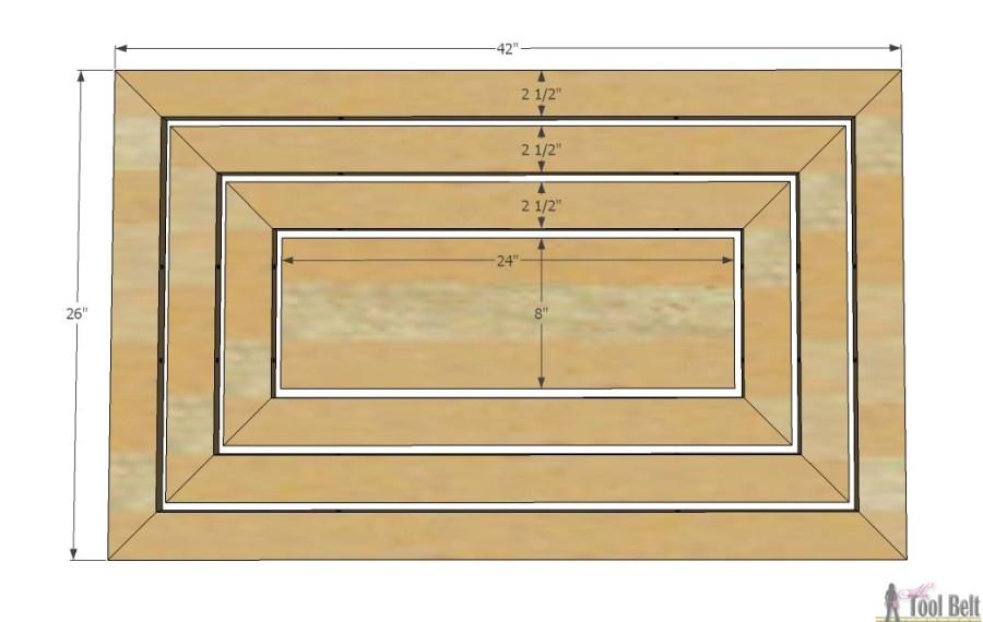 Hello Wooden Door Mat dimensions