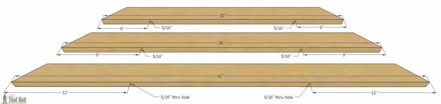 Hello Wooden Door Mat- drill holes 1