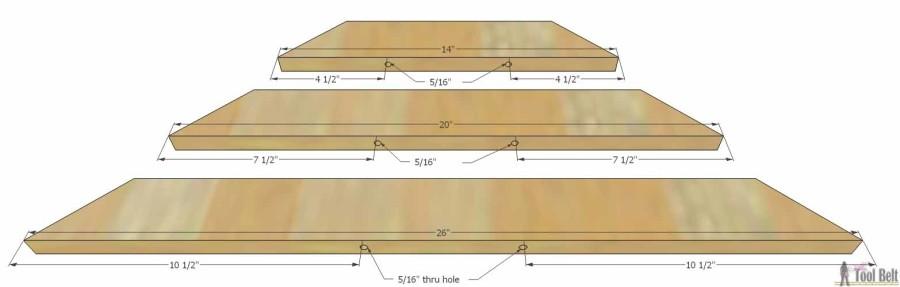 Hello Wooden Door Mat- drill holes 2