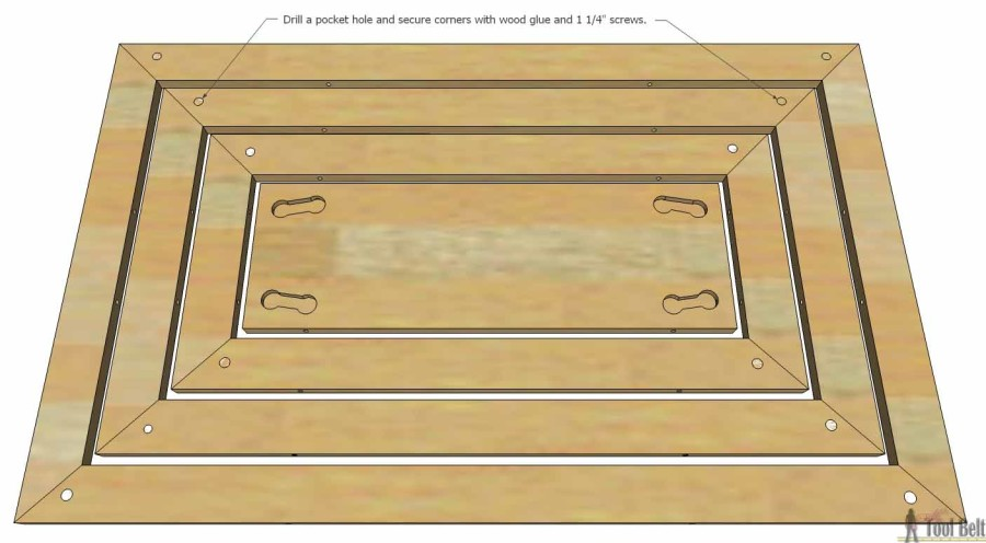 Hello Wooden Door Mat- pocket holes