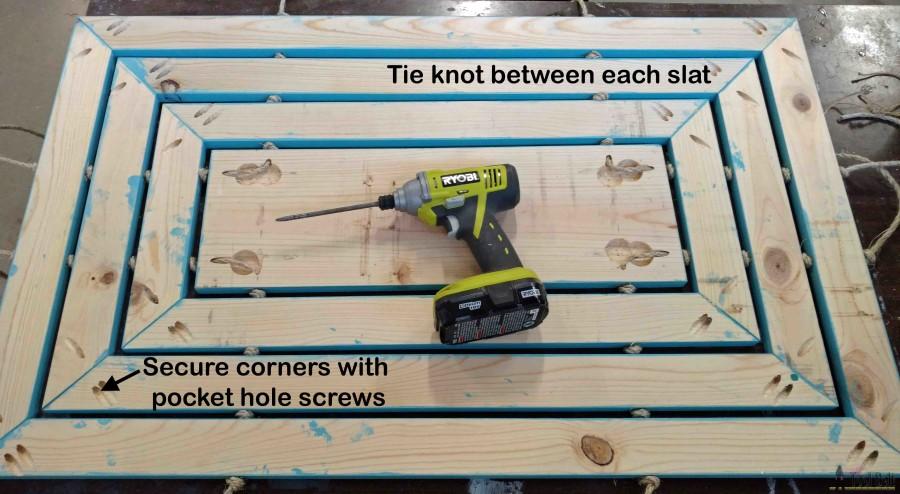 Wooden door mat assemble final