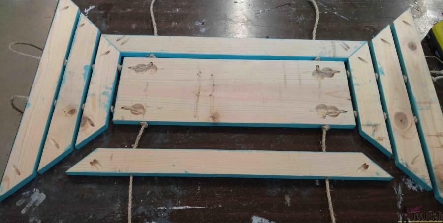 wooden door mat assemble slats