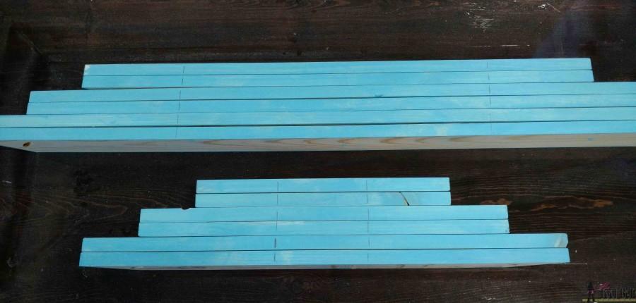 wooden door mat mark for holes