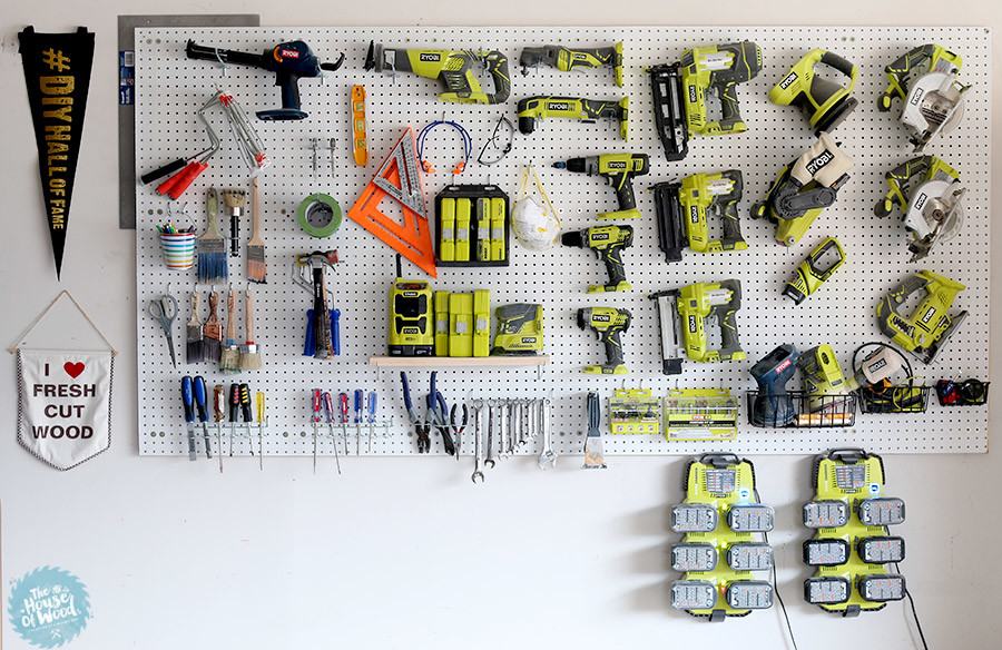 garage organization ideas pegboard - 12 Brilliant Tool Organization Ideas Her Tool Belt