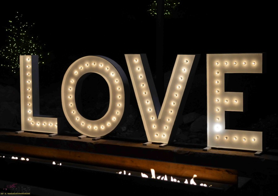 these are so cute for a wedding and make big statement diy love marquee letters