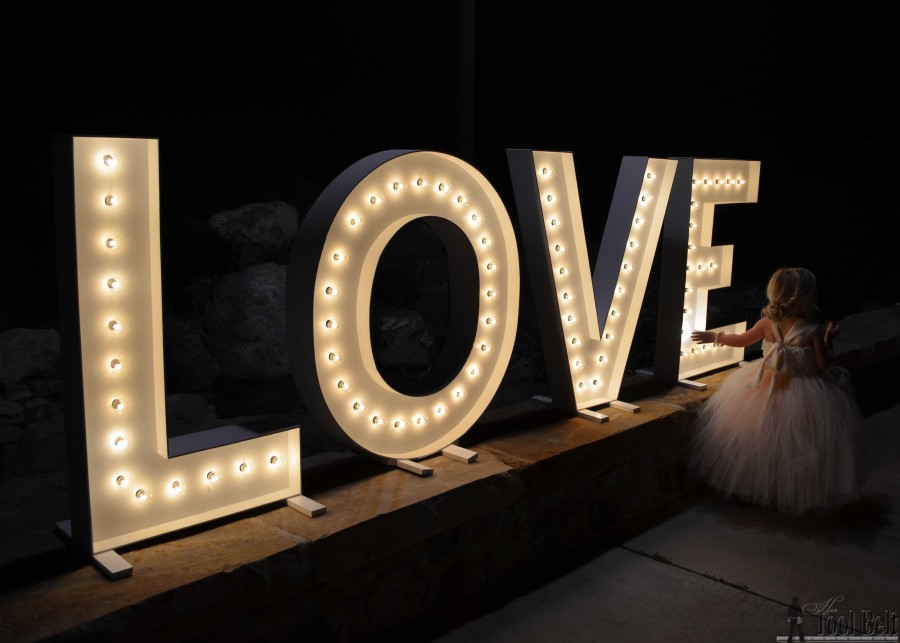 Wood Diy Love Marquee Letters Her Tool Belt