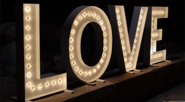 Wood DIY LOVE Marquee Letters