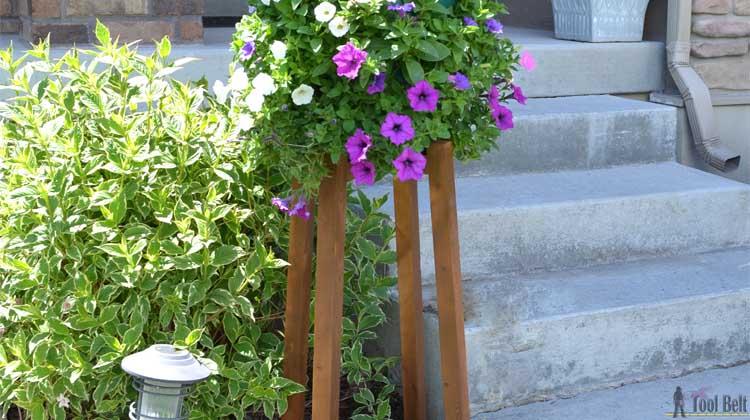 Diy Flower Pot Stand Her Tool Belt