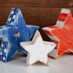 Worn *Red White and Blue* Star Blocks