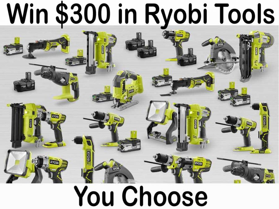 Win $300 in Ryobi Power Tools!